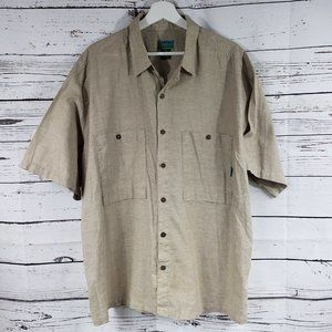 Patagonia Tan Safari Aloha Button Down Shirt